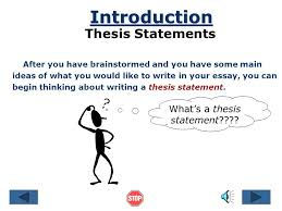 the thesis statement a road map for your essay references essay  the thesis statement a road map for your essay references essay introduction thesis statement body paragraph
