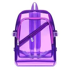 Fashion <b>Clear Transparent</b> Women Backpacks Cute <b>Jelly Color</b> PVC ...