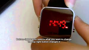 <b>Mirror Led</b> Watch tutorial and short review - YouTube