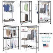 <b>3-Tier</b> Portable <b>Closet</b> Organizer Metal <b>Garment</b> Storage <b>Rack</b> ...