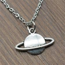 Planet Saturn Pendant Necklace Jewelry Women <b>Fashion Solar</b> ...