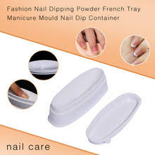 nail art container storage box case white french smile line