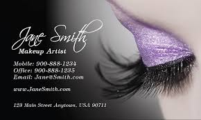 cosmetology make up artist business card design 601111