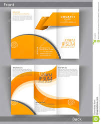 professional business trifold brochure or template design stock professional business trifold brochure or template design
