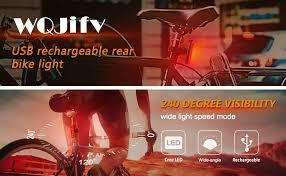 WQJifv Rear Bike Light <b>Powerful LED USB Rechargeable</b>, Bike ...