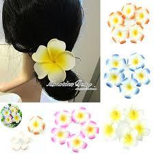 <b>10pcs Plumeria</b> Hawaiian Foam <b>Frangipani</b> Flower 7cm For ...