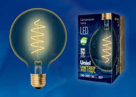 <b>Лампа</b> светодиодная <b>Uniel</b> Vintage <b>LED</b>-<b>G95</b>-<b>4W</b>/<b>GOLDEN</b>/<b>E27</b> ...