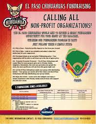 fundraising opportunities el paso chihuahuas community fundraising opportunities