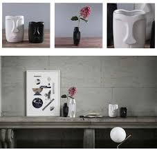 <b>Nordic Minimalist Ceramic</b> Abstract <b>Vase</b> Black And White Human ...