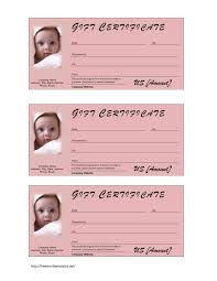 best photos of gift card printable template printable heart baby gift certificate template
