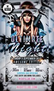 party flyer designs psd vector eps jpg ultimate night party flyer mium psd ultimate night flyer by ultimateboss d54f38x
