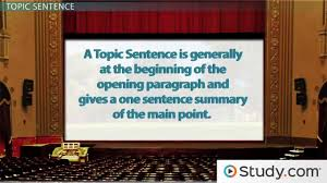 how to structure sentences in an essay video lesson transcript writing main idea thesis statement topic sentences