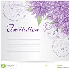 blank invitation template royalty stock photos image  invitation template blank purple abstract flowers stock photos