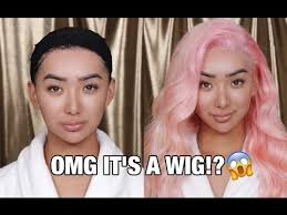 HOW TO PUT ON A WIG!   For Beginners - YouTube