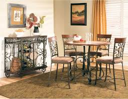counter height dining table zppt buy thompson round counter height dining table by steve silver counter