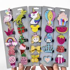Aliexpress.com : Buy <b>5</b> Pcs/lot Glitter <b>Cartoon</b> Princess Hair Clips ...