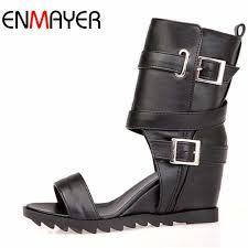 <b>ENMAYER</b> LargeSize 34 47 <b>New</b> Fashion Women's Gladiator Knee ...