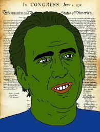 Nicolas Cage Pepe Frog - Imgur via Relatably.com