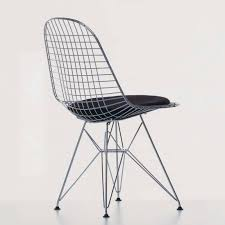 contemporary chair wire outdoor with removable cushion dkr vitra charles and ray eames furniture