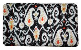 <b>Black Paisley</b> Indian King Kantha Quilt Bedspread Blanket Bedding ...