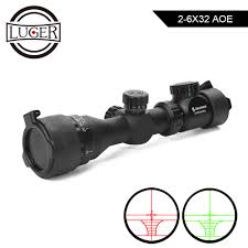 <b>2 6X32 AOE</b> Tactical <b>Optical</b> Sight Riflescope Adjustable Red Green ...