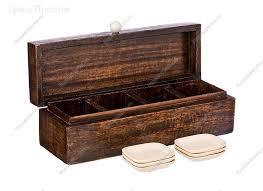 Органайзер <b>для чайных пакетиков</b> деревянный 32x10x10 см с ...