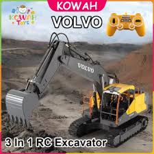 KOWAH <b>E568</b>-001 VOLVO 3 In 1 Remote Control Excavator Metal ...