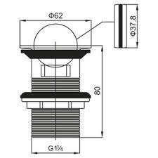 <b>BelBagno</b> BB-PCU-05-CRM <b>донный клапан</b> для раковины купить в ...