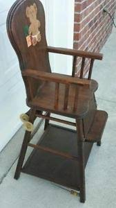 vintage childs high chair antique high chairs wooden