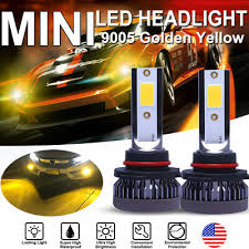 <b>2X Mini</b> 9005 HB3 LED Headlight Bulb Kit High Fog Beam 6000K ...