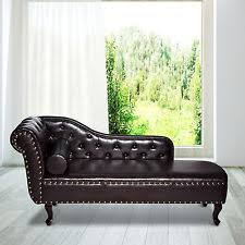 deluxe vintage style faux leather chaise longue lounge sofa bed bolster cushion chaise lounge sofa