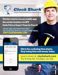 clockshark you can also run reports that show job cost info and hours worked per jobsite payroll has never been so easy