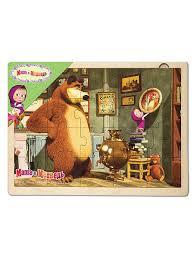 "<b>Игра из</b> дерева ""Маша и Медведь"" (Анимаккорд) <b>Степ Пазл</b> ..."