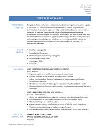 chef resume template chef resume