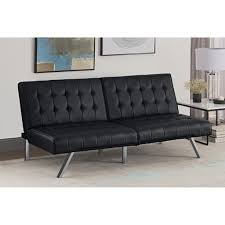 emily bedroom set light oak: dhp emily convertible futon amp reviews wayfair