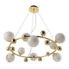 <b>Люстра</b> молекула подвесная <b>Crystal Lux SALVADORE</b> SP9H GOLD