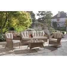 KETTLER RHS Harlow Carr <b>3 Seater Outdoor Sofa</b>, <b>Natural</b> ...