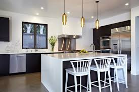 kitchen linear dazzling lights clear ceiling recessed: agreeable kitchen linear lights with three tube pendant lamps and clear recessed lights and smlfimage source