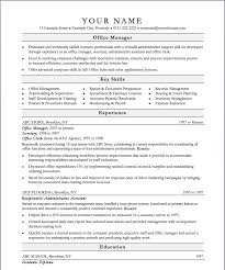 office manager resume   resume template databaseoffice manager resume templates and samples