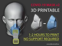 COVID-19 <b>MASK</b> v2 (Fast print, no <b>support</b>, filter required) by ...