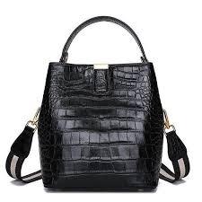 Bag <b>women 100</b>% <b>genuine leather</b> handbag fashion crocodile grain ...