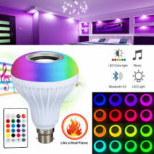 RGB- B22 ,<b>B27 Wireless</b> Remote Control <b>Bluetooth</b> Music LED Light ...
