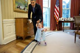 this moment happened when former deputy press secretary jamie smith and her family including one barack obama oval office