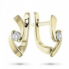 <b>Серьги</b> из желтого золота с <b>бриллиантами</b> – купить в Москве по ...