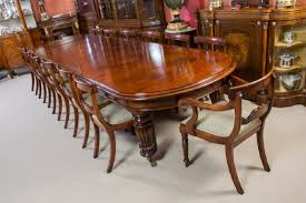 fourteen regency dining vintage victorian mahogany dining table with  chairs