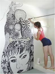 how to paint a small bathroom look for painting bathroom tile for your home mind blowing wall painting by a girl in
