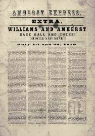 baseball goes to college society for american the first intercollegiate baseball match between amherst college and williams college shares a headline chess