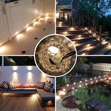 Airand <b>10Pcs</b> Recessed LED Deck Lights Kit <b>12V</b> LED Step Lighting ...