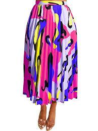 TOB <b>Women's Sexy</b> Summer High Waist <b>Chiffon Printed</b> Colorful ...