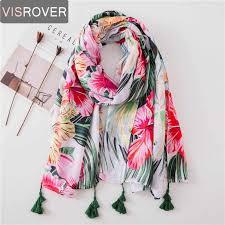 <b>VISROVER</b> Long <b>Scarves 2019</b> Fashion <b>Scarves</b> Viscose Shaw ...